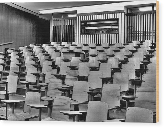 Lecture Hall At Ubc Wood Print