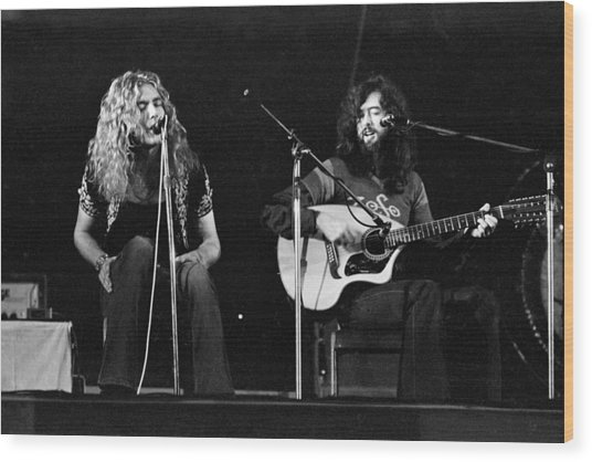 Led Zeppelin 1971 Acoustic Wood Print