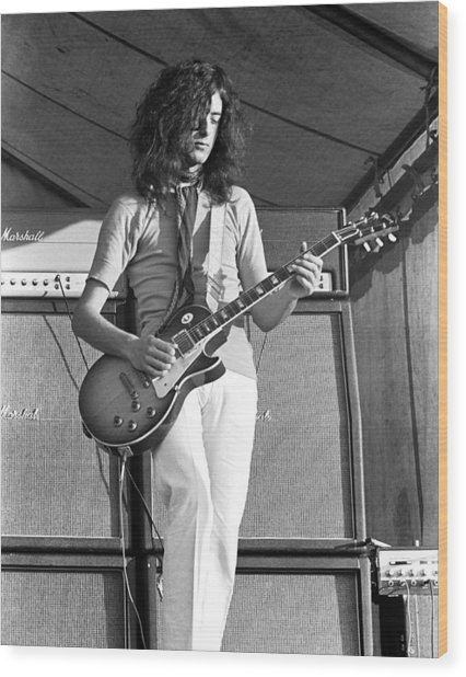 Led Zeppelin Jimmy Page '69 Wood Print