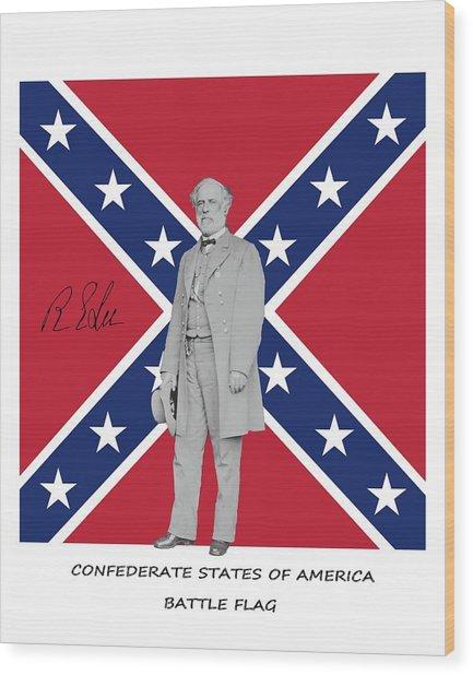 Lee Battleflag Wood Print