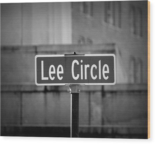 Lee Circle Wood Print