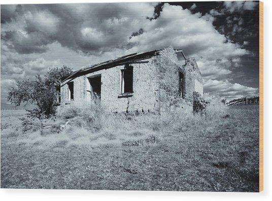 Left In Ruin Wood Print