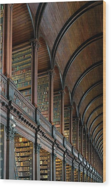 Left Wing Of The Long Room Wood Print