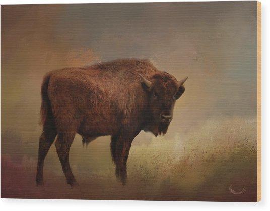 Legend Of Buffalo Spirit Wood Print