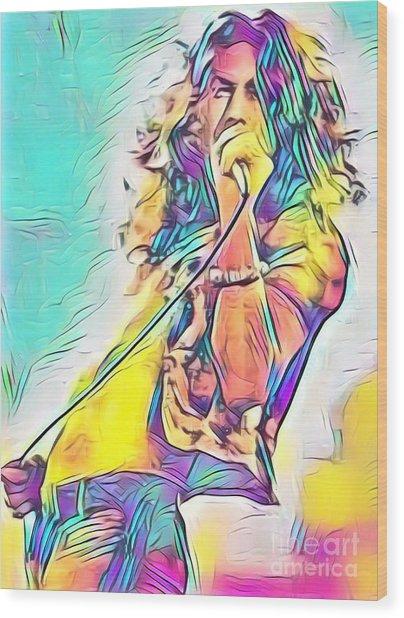 Legends Of Rock - Robert Plant - Ten Years Gone Wood Print