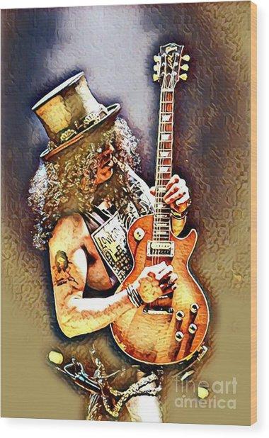 Legends Of Rock - Slash - Sweet Child Wood Print