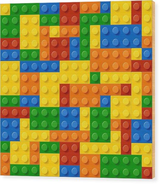Lego Bricks Wood Print