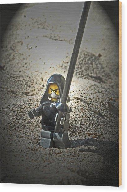 Lego Ninja Wood Print