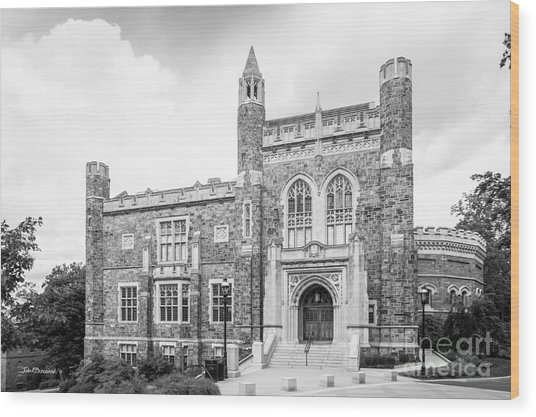 Lehigh University Linderman Library Wood Print