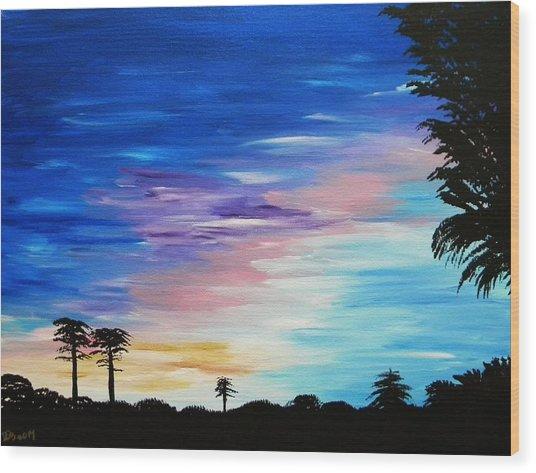 Lejeune Sunset Wood Print