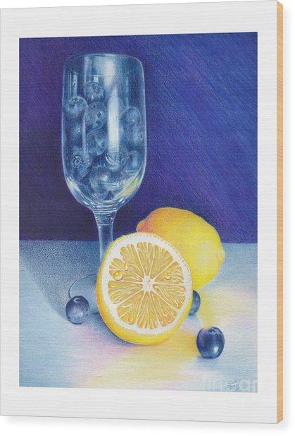 Lemon Blueberry Muffins Wood Print