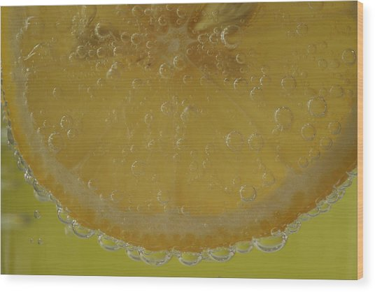 Lemon Bubbles Wood Print