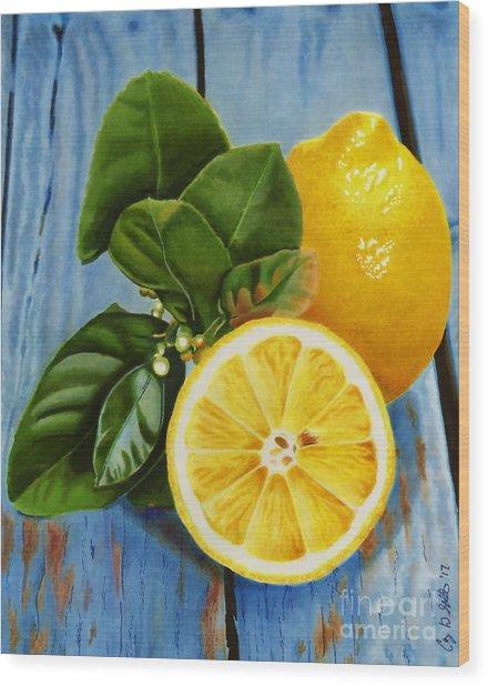 Lemon Fresh Wood Print