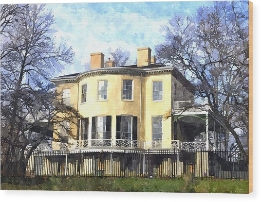 Lemon Hill Mansion Wood Print