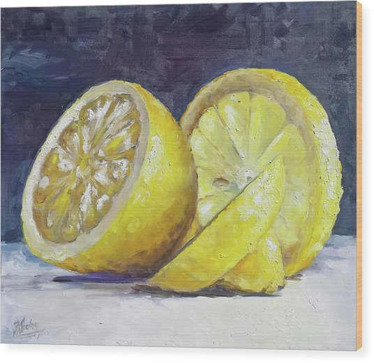 Lemon Wood Print