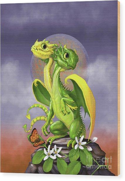 Lemon Lime Dragon Wood Print