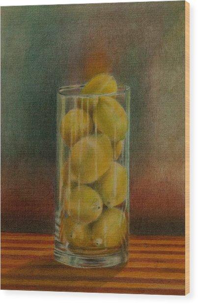 Lemon Stack Wood Print