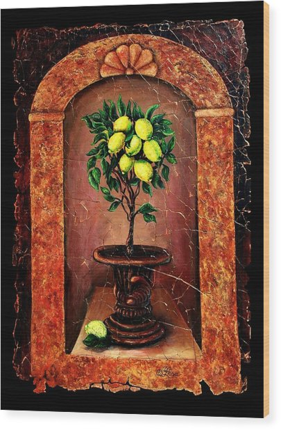 Lemon Tree Wood Print