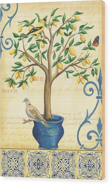 Lemon Tree Of Life Wood Print