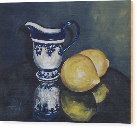 Lemons And Cream  Wood Print by Torrie Smiley