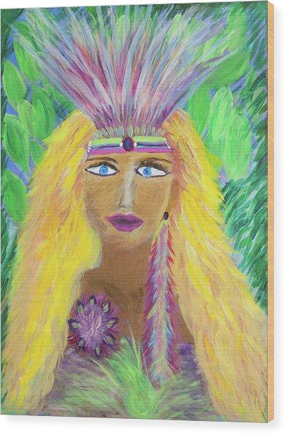 Lemurian Goddess Wood Print