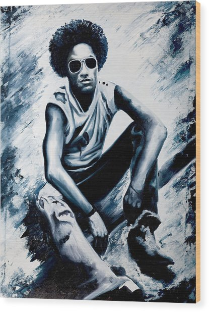 Lenny Kravitz Wood Print by Jocelyn Passeron