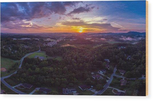 Lenoir North Carolina  Sunset Wood Print