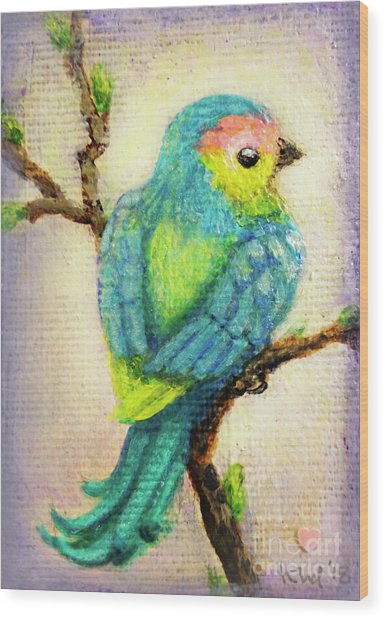 Lenten Love Bird Wood Print