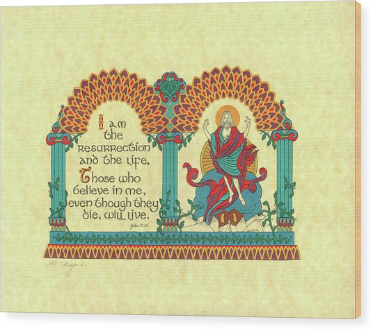 Lenten Resurrection Wood Print by Marlene Chapin