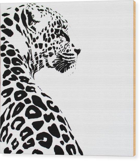 Leo-pard Wood Print