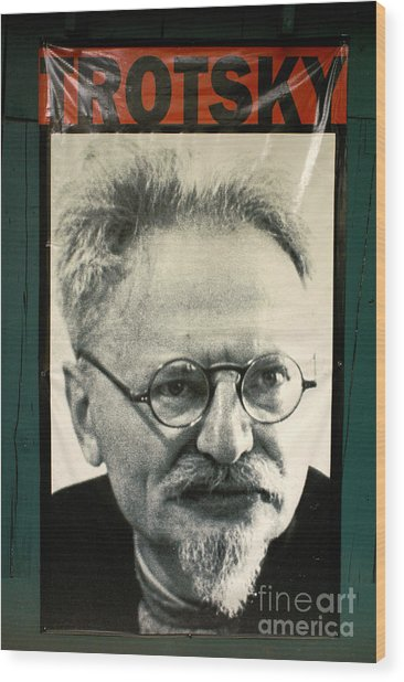 Leon Trotsky Poster Mexico City Wood Print