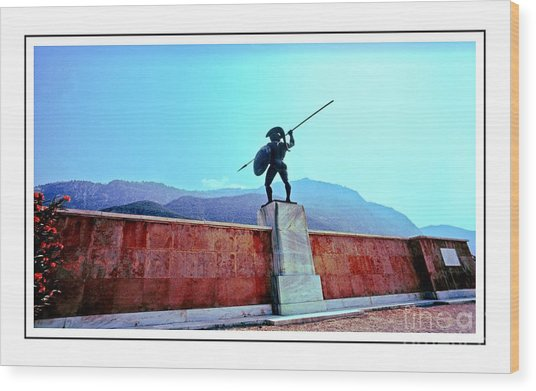 Leonidas At Thermopylae Ver 7 Wood Print