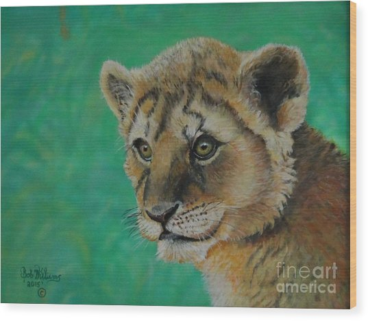 Leonidas   The Young Lion King Wood Print