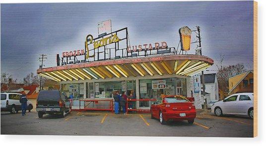Leon's Custard Stand Wood Print