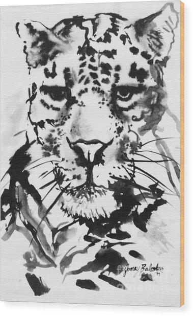 Leopard Wood Print by Jamey Balester
