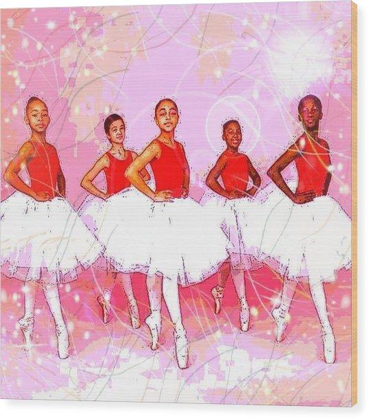 Les Danseurs Noirs Wood Print