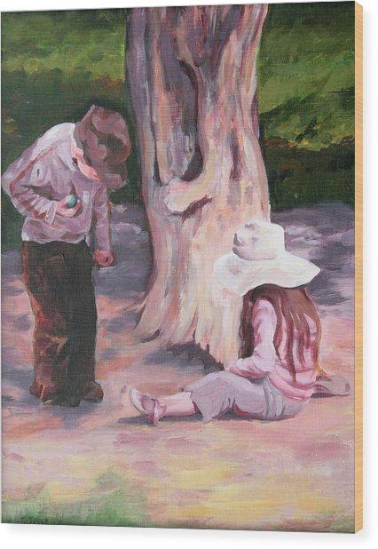 Les Enfant Aux Parc Mattisse Wood Print