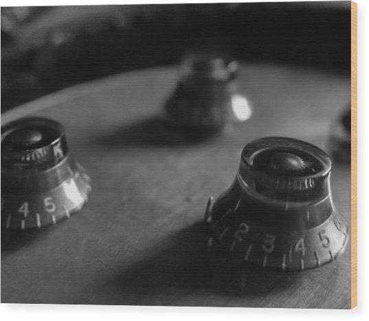 Les Paul Controls Series  Wood Print