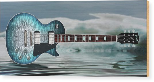 Les Paul Ice Wood Print