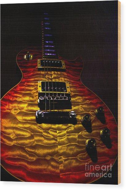 Guitar Custom Quilt Top Spotlight Series Wood Print