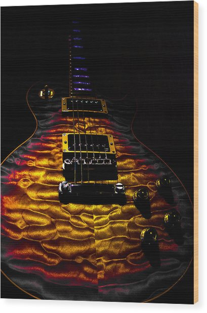 Tri-burst Quilt Top Guitar Spotlight Series Wood Print