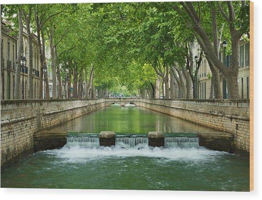 Les Quais De La Fontaine Wood Print