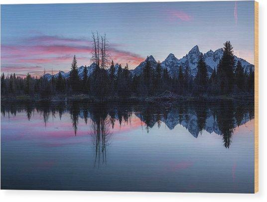 Les Trois Tetons // Grand Teton National Park  Wood Print