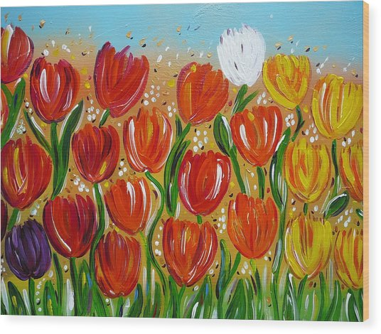 Les Tulipes - The Tulips Wood Print