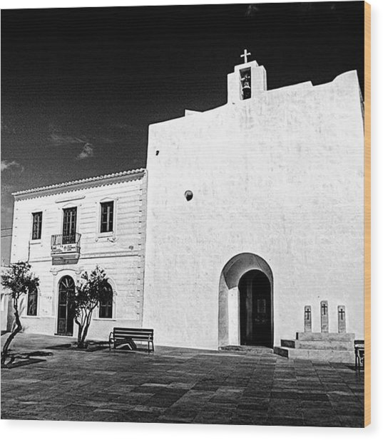 Fortified Church, Formentera Wood Print