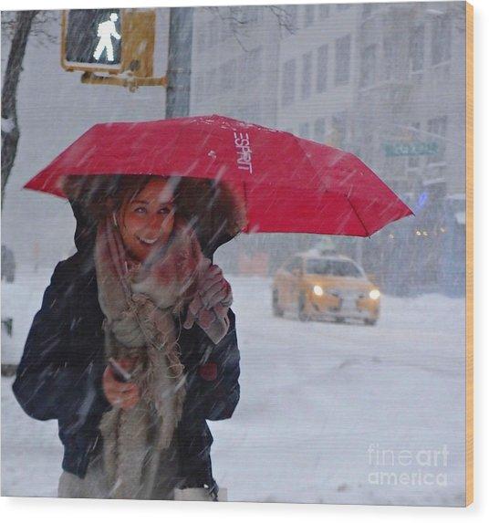 L Esprit De New York - Winter In New York Wood Print