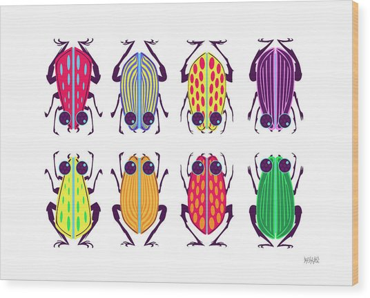 Less-than-creepy Crawlies Wood Print