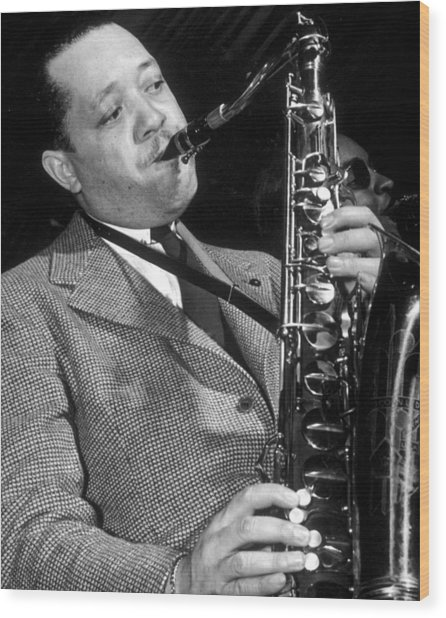 Lester Young  Wood Print