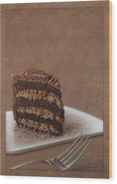 Let Us Eat Cake Wood Print
