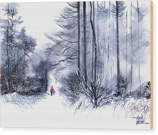 Let's Go For A Walk 2 Wood Print